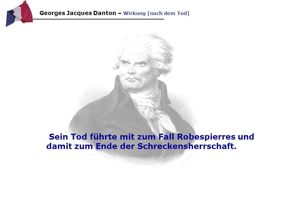 Georges Jacques Danton – Wirkung [nach dem Tod]